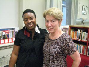 2014 Fellowship winner Maxine Beneba Clarke and 2012 winner Mary Hoban.