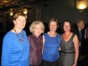 At the 2012 Fellowship announcement, from left, Della Rowley, Mary , Lynn Buchanan and Irene Tomaszewski.
