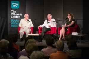 Jim Davidson, Alex Miller, Fiona Gruber (MC).
